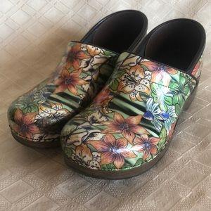 Dansko tropical floral clogs